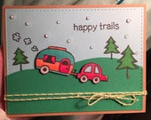 Items similar to farewell greeting card handmade happy trails on etsy farewell greeting card handmade happy trails m4hsunfo