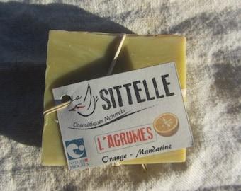 Agrume soap, citrus soap, handmade, cold process soap, palm free, organic, natural, veganfriendly