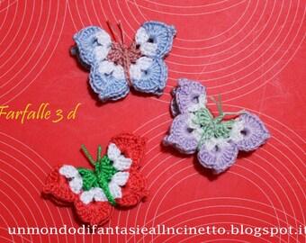 Farfalla all'uncinetto in 3d
