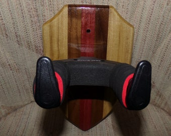 Custom Wood Locking Wall Hangers for Guitars #1509