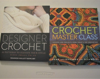 2 Designer Crochet Books