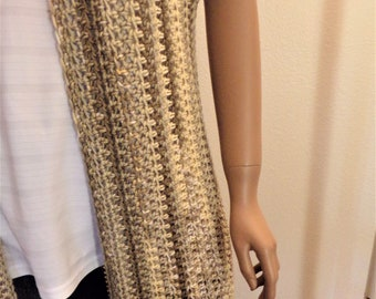 Crochet Toasted Marshmallow Varigated Duster