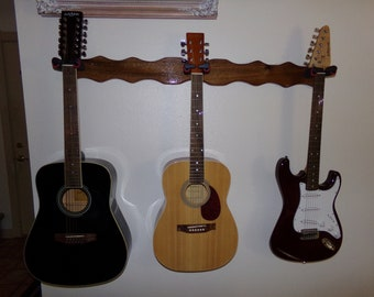 3 Guitar Wall Hangar #3083