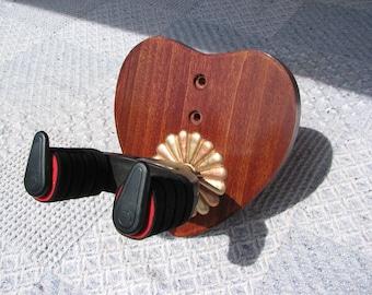 Custom Wood Locking Wall Hangers for Guitars #1494