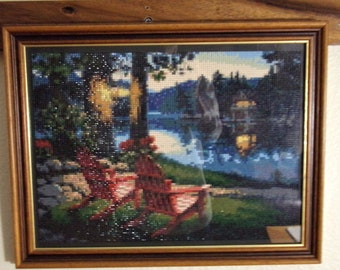 Chairs by the Lake Diamond Painting