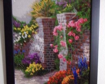 Brick Walled Garden Diamond Painting
