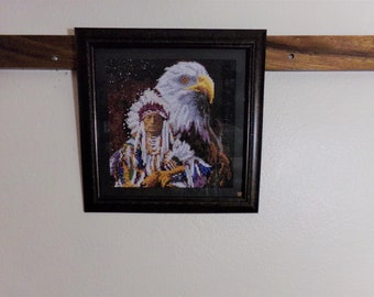 Indian and Eagle Diamond Painting