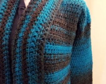 Crochet Scarfie Long Sleeve Sweater