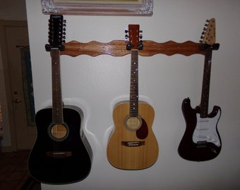3 Guitar Wall Hangar #3082