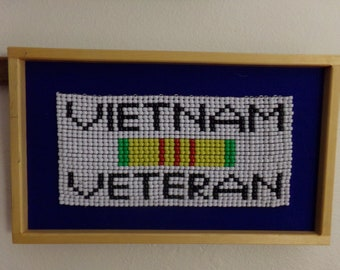 Vietnam Vet Beaded Wall Art