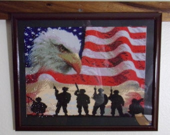 Soldiers Eagle and Flag Diamond Painting