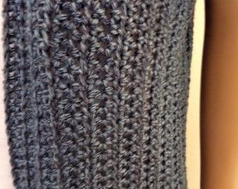 Crochet Blue Heather Duster