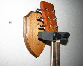 Custom Wood Locking Wall Hangers for Guitars #1497