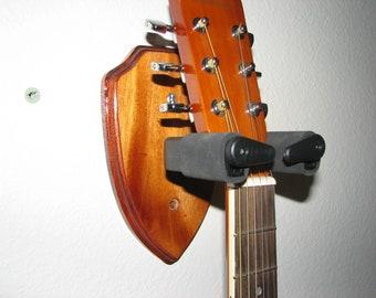 Custom Wood Locking Wall Hangers for Guitars #1496