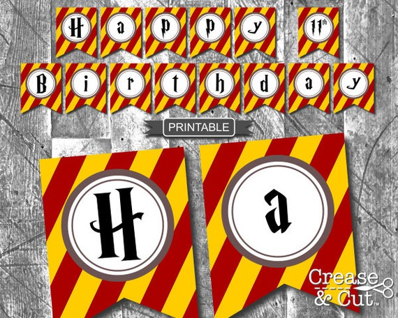DIY Harry Potter Style Birthday Party Decorations Banner