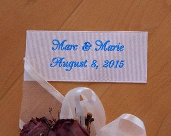 Wedding Dress Label. Monogrammed Label. Baptism Dress Label. Personalized Label.  Embroidered dress label.  Embroidered Label. Canada F38