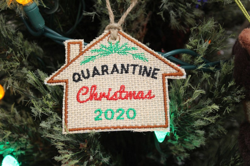 2020 Christmas Ornament Set of 3 Funny Holiday Gift Mask Embroidered Natural Burlap Toilet Paper Rustic Holiday Home Decor Canada