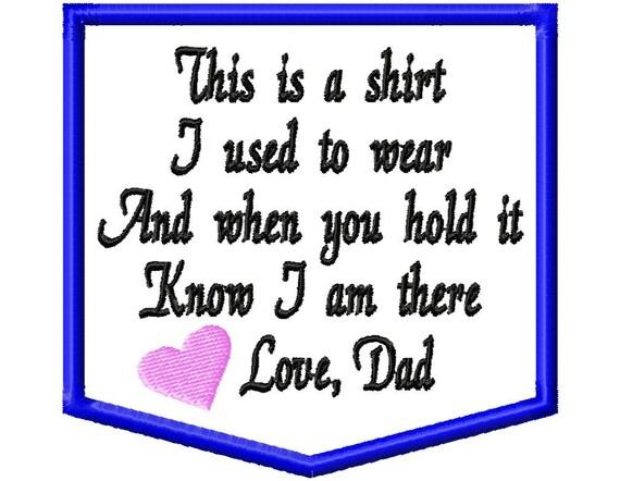 MEMORY PILLOW PATCH 4x4 Memory Shirt