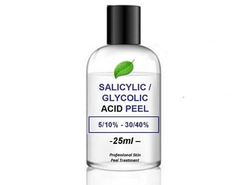 25ml Salicylic Acid/Glycolic Acid Combination Skin Peel - your choice of strength% – 25ml pack