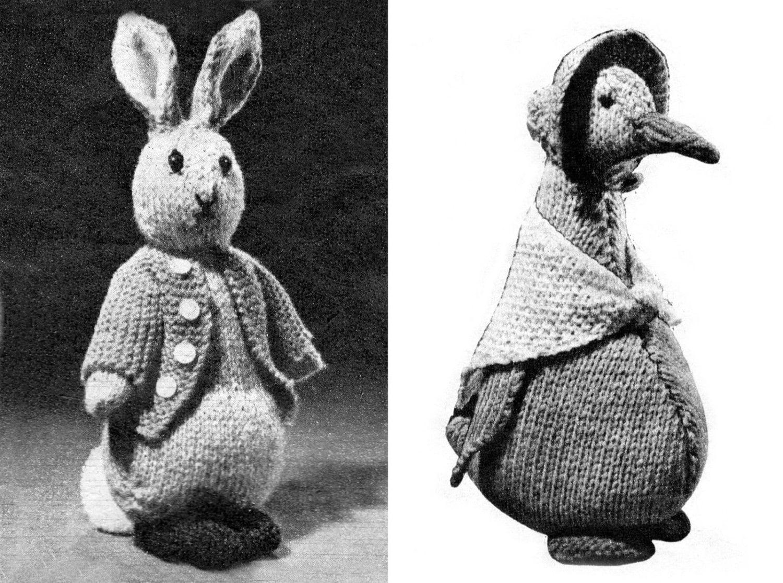 PDF Peter Rabbit Jemima Puddle Duck tejer patrones rara   Etsy