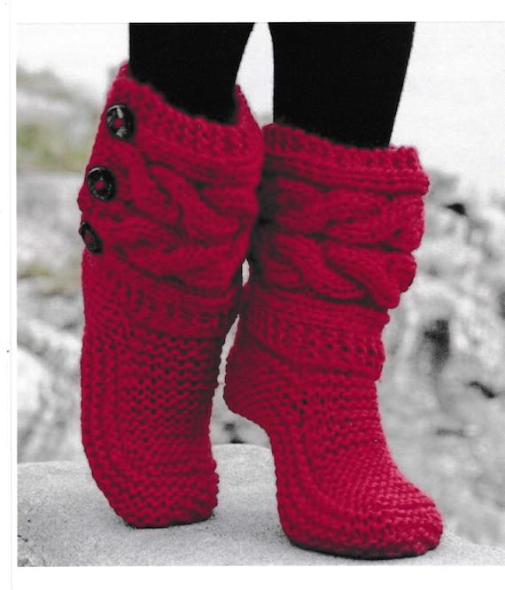 Pdf Vintage Bed Socks Knitting Pattern Vintage Retro Bed Etsy