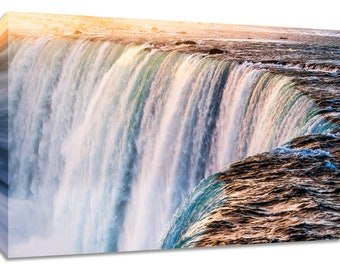 Niagara Falls photo. Waterfall wall art photography print. Canvas picture home decor. 20x30 framed print. Landscape nature scenic wide den.
