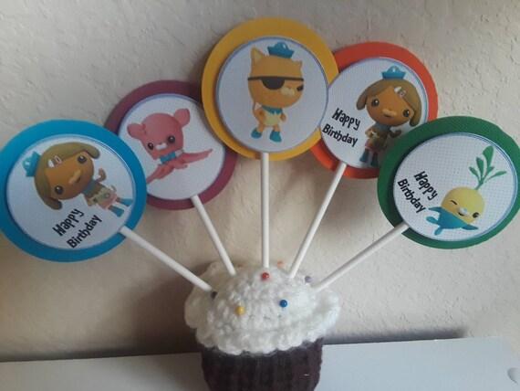 Octonauts Birthday Cupcake Toppers Thank