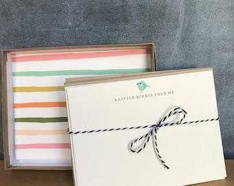 A Little Birdie...Stationery Set of 10 Cards & Envelopes