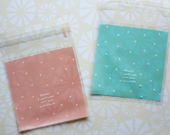 Mint Green Polka Dot Kawaii Cello Cookie Bag b67753201cf36