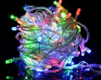 200 LED Multicolor Waterproof linkable Fairy String Light | Christmas , Halloween, Wedding, Birthday, Party, Room Decor, Christmas Light