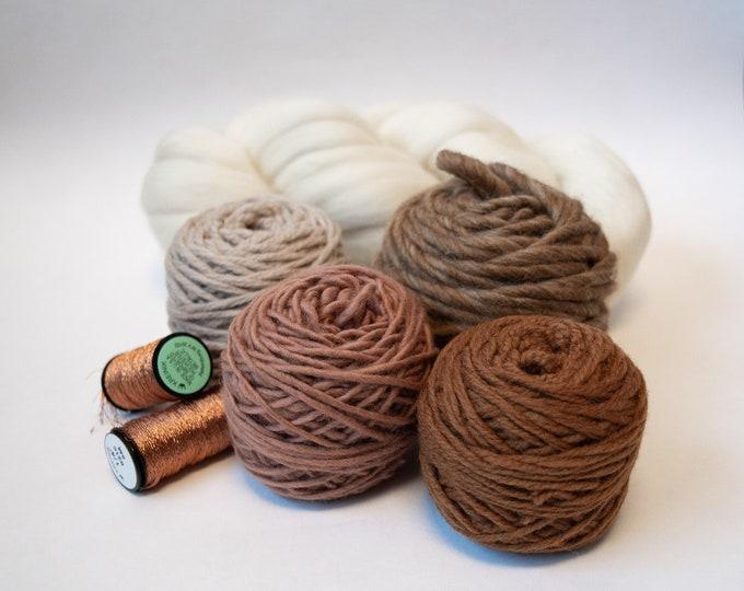 Weaving Yarn Pack - Desert Sands with Copper Ribbon