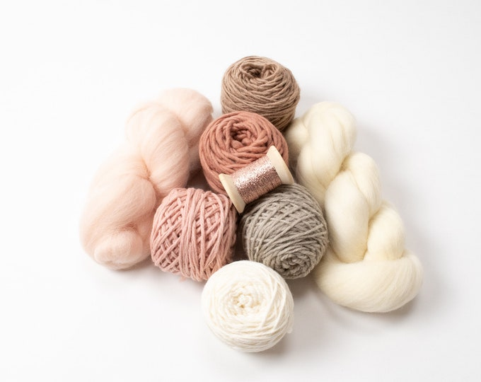 Weaving Yarn Pack - Soft Blush & Neutrals