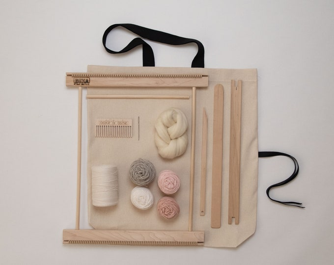 "14"" Frame Loom Weaving Kit Blush"