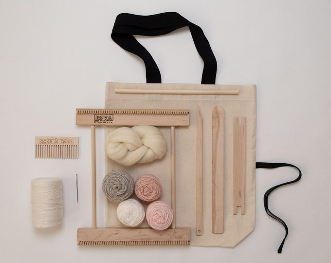 "10"" Frame Loom Weaving Kit Blush"