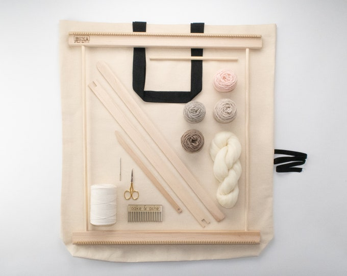 "20"" Frame Loom Weaving Kit Blush"