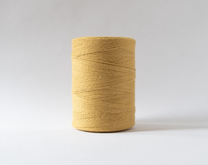 Mustard Cotton Warp Thread for Weaving