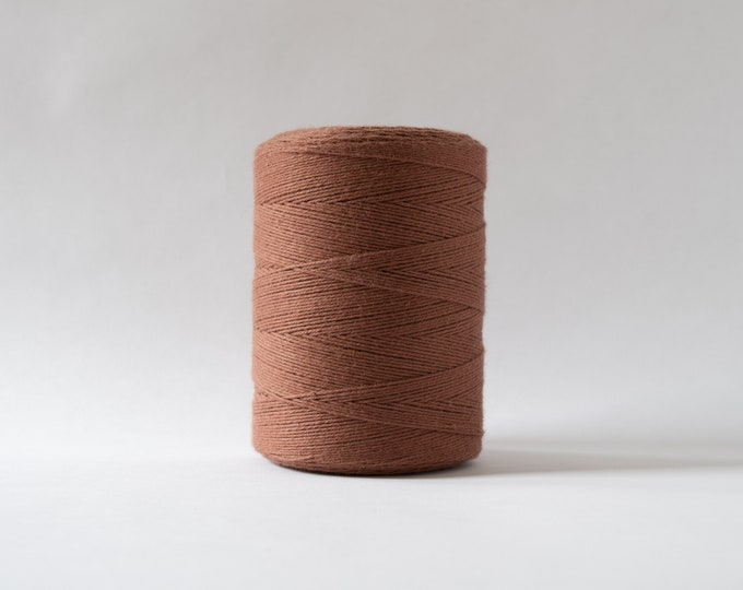 Cinnamon Cotton Warp Thread for Weaving