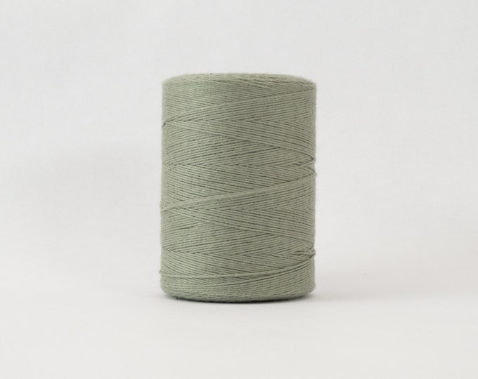 Sage Cotton Warp Thread for Weaving