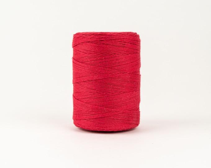 Red Cotton Warp Thread for Weaving
