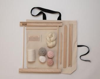 "14"" Frame Loom Weaving Kit Blush"