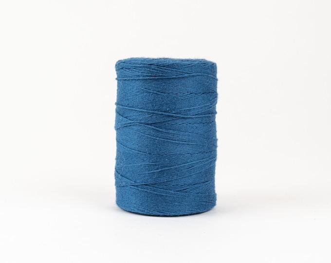 Marine Blue Cotton Warp Thread for Weaving