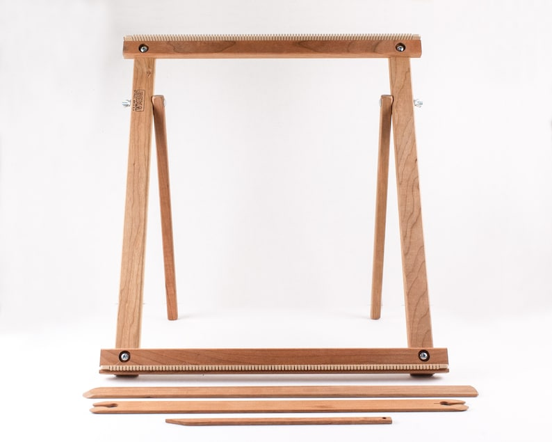 20 Weaving Frame Loom with Stand The Deluxe CHERRY!