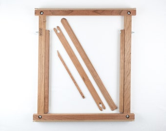 """20"""" Weaving Frame Loom with Stand - The Deluxe - CHERRY!"""
