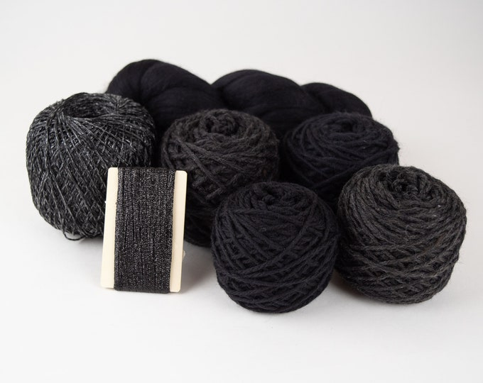 Pitch Black - Weaving Yarn Pack