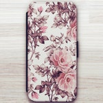 Pink Floral Wallet Case For Samsung Galaxy S8 Wallet Case For Samsung Galaxy S9 Wallet Case For Samsung Galaxy S10 Plus