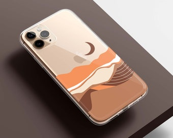 Landscape Protective Clear Case for iPhone, Samsung, Pixel- iPhone 13, 13 Pro, 12, 11, SE, XR, Samsung S21, S20, S10, Pixel 5, 4 3 XL, 4a