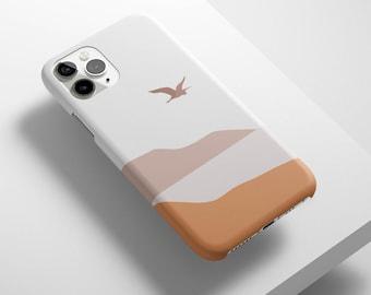 Desert Bird Print Matte Case For iPhone, Samsung, Google Pixel - iPhone 12, iPhone 11, iPhone XR, SE, Samsung S21, S20, S10, Pixel 5,Pixel 4