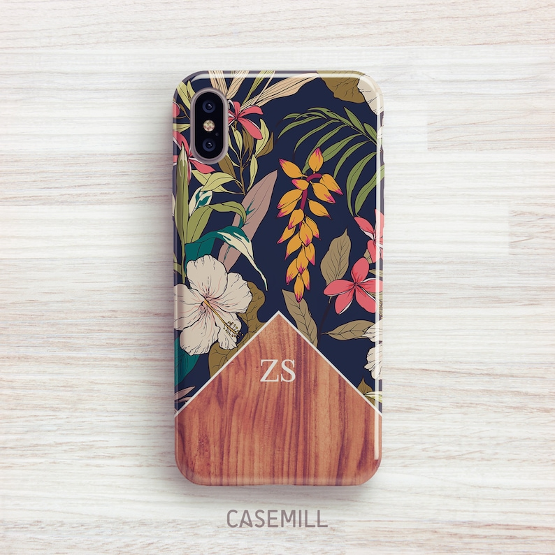 Tropical Wood Personalized iPhone 8 Case iPhone 7 Case iPhone image 0