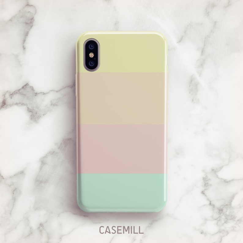 Pastel Stripe iPhone 7 Case iPhone 8 Case iPhone X Case iPhone image 0