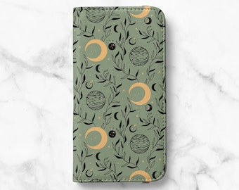 Mystic Planets Print iPhone 12 Wallet iPhone 11 Wallet iPhone SE Wallet iPhone XR Wallet iPhone 8 Wallet iPhone XS Wallet iPhone 8 Plus